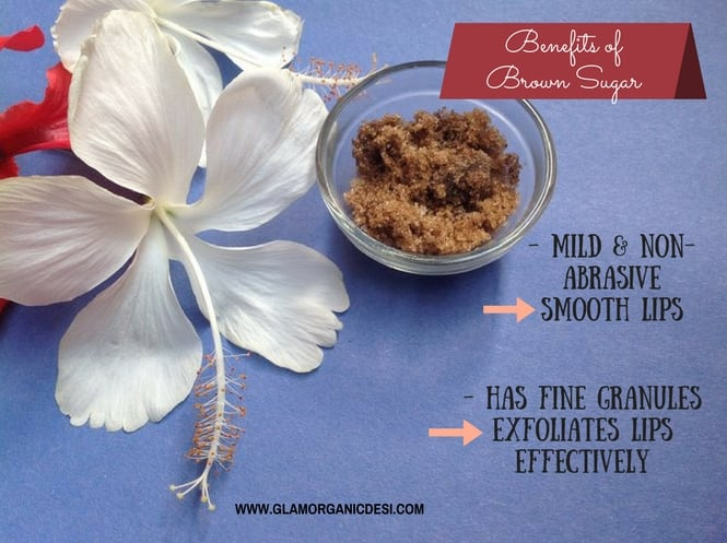 Benefits of brown sugar for lips, Homemade lip scrub to get smooth pink lips, How to get rid of dark lips, Beauty Tips, Skin Care, Lip Balms in India, best lip scrubs, how to get rid of dark pigmented lips, lip care, How to get pink lips, How to get pink lips for men, Beauty, Homemade Herbal Recipes, DIY Mask, Indian Beauty Blog, Indian Makeup Blog, Glamorganicdesi, Brown Sugar