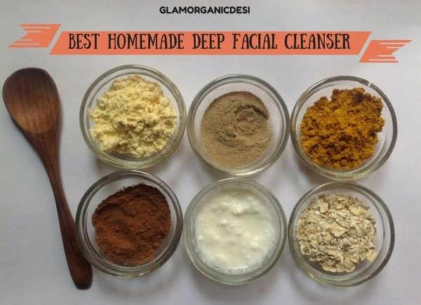 Best Homemade Deep Facial Cleanser, Glamorganicdesi, Beauty Tips For Face, Organic Skincare, Best DIYs, Indian Beauty Blog